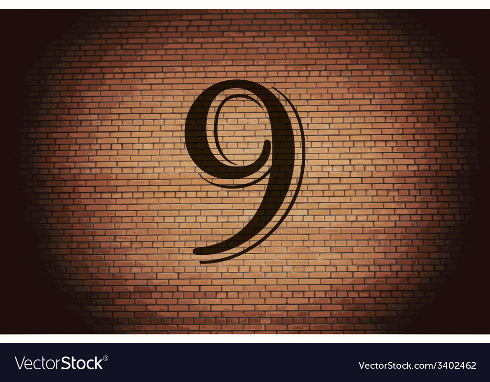 Number nine icon symbol flat modern web design vector | Price: 1 Credit (USD $1)