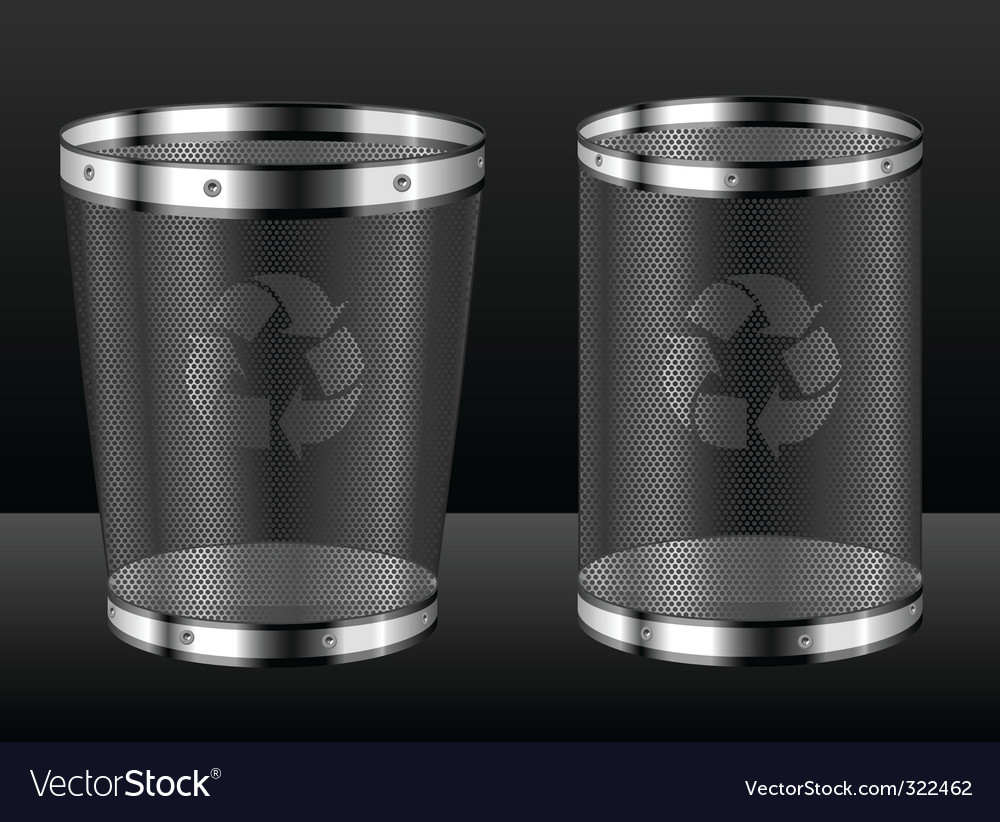 Recycle bins with emblem vector | Price: 1 Credit (USD $1)