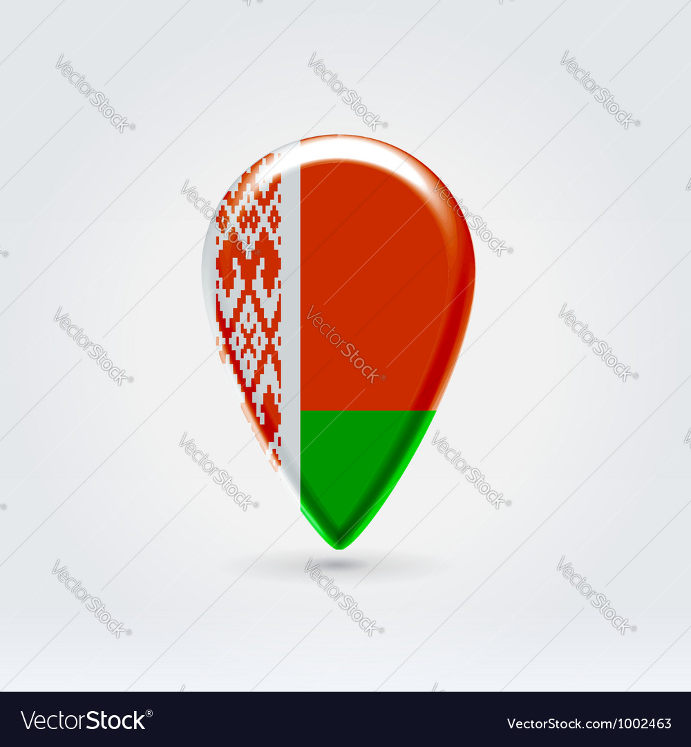 Belarussian icon point for map vector | Price:  Credit (USD $)