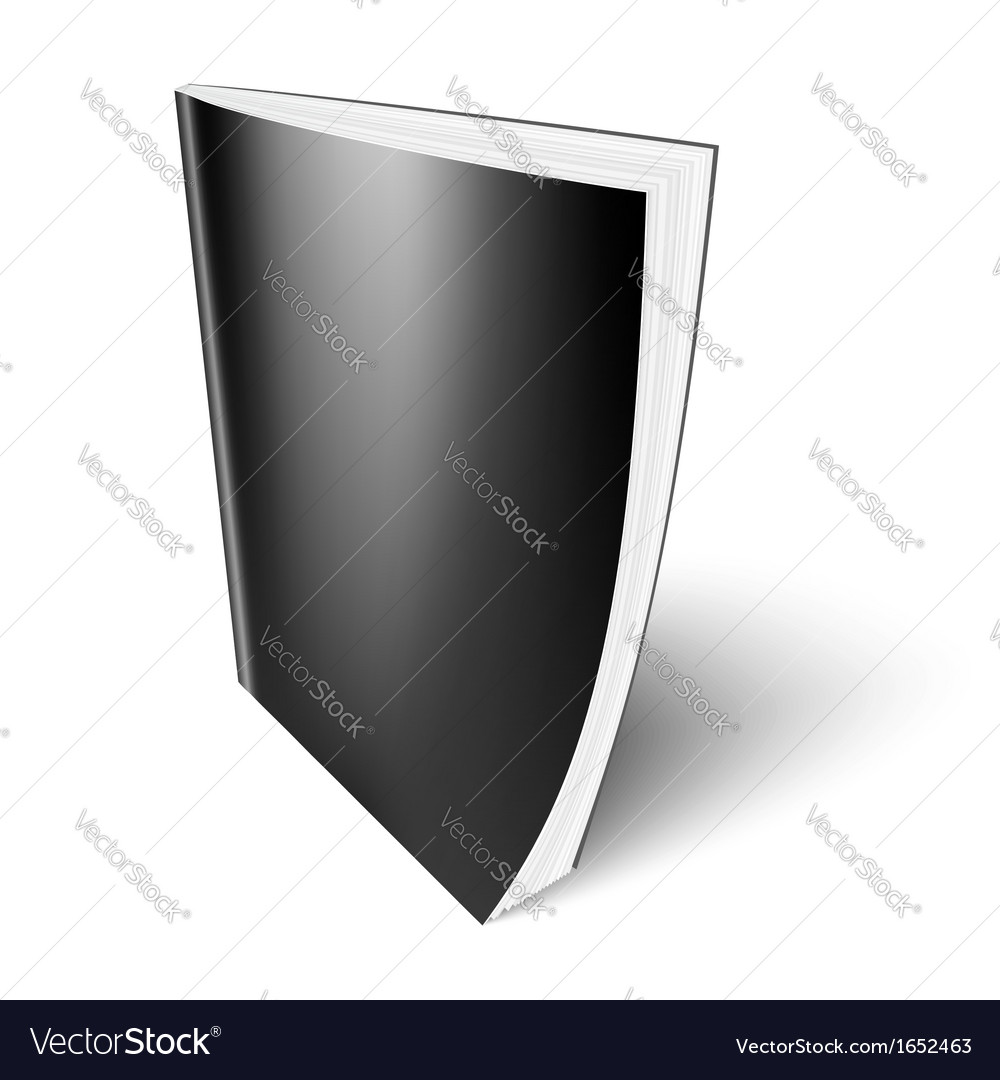 Black vertical magazine template vector | Price: 1 Credit (USD $1)