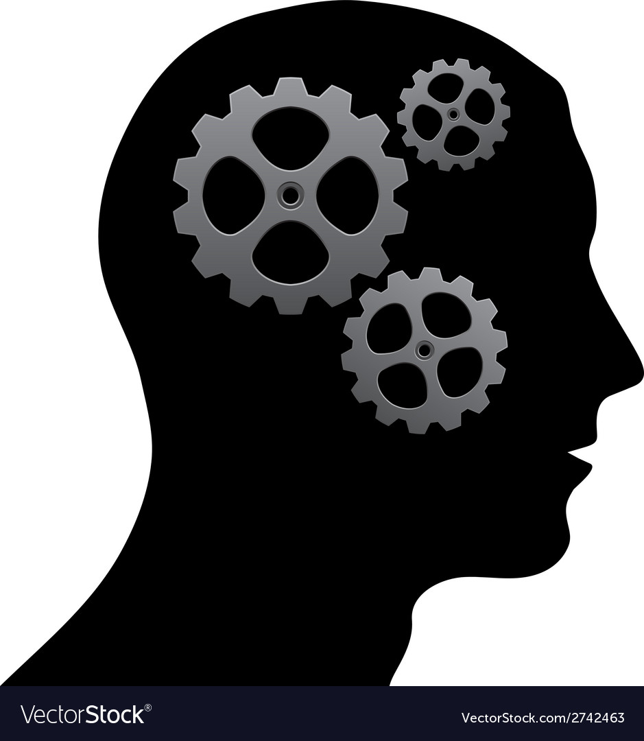 Brain of gears vector | Price: 1 Credit (USD $1)