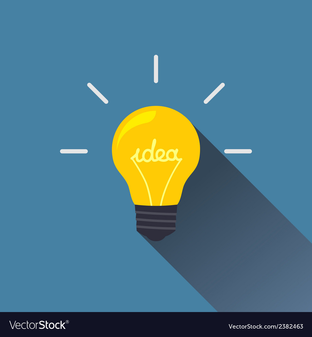 Creative idea in light bulb shape vector | Price: 1 Credit (USD $1)