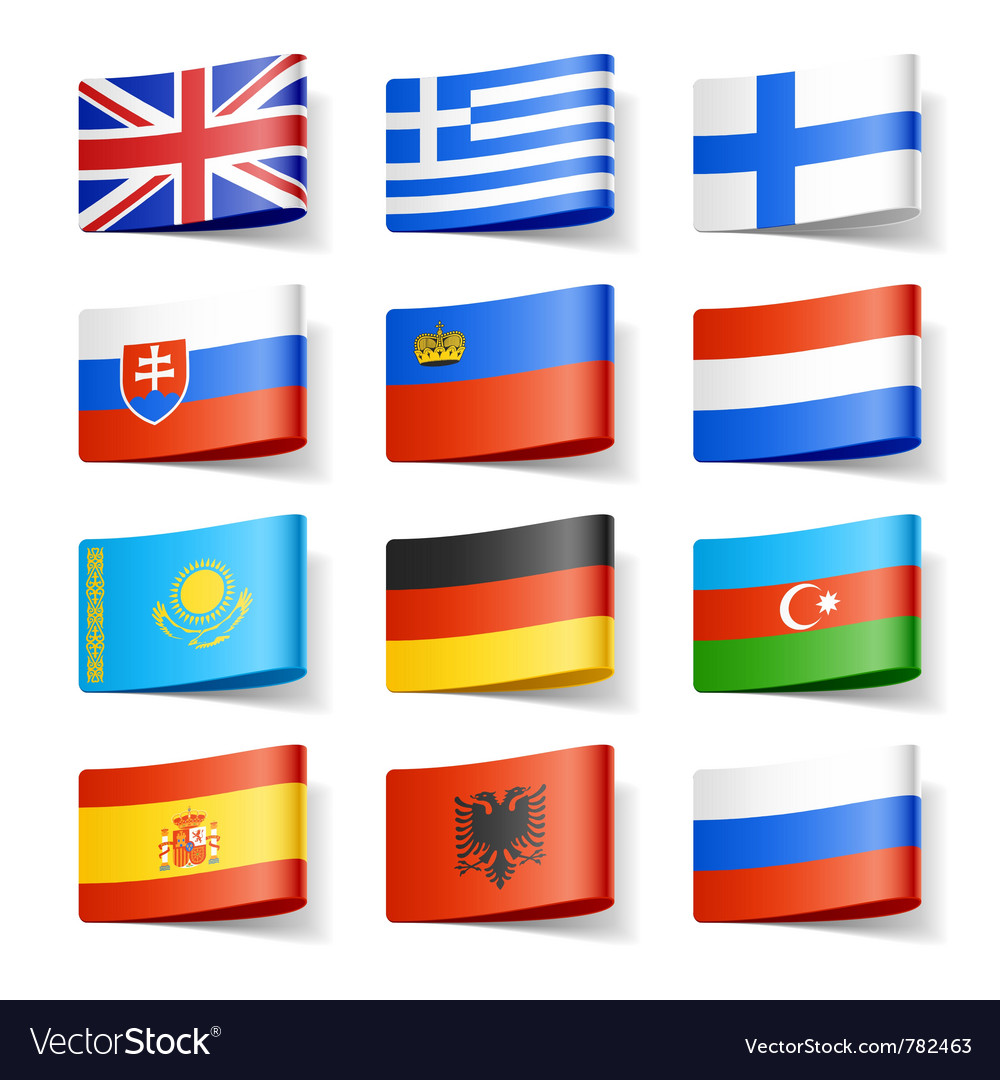 Europe flags vector | Price: 1 Credit (USD $1)
