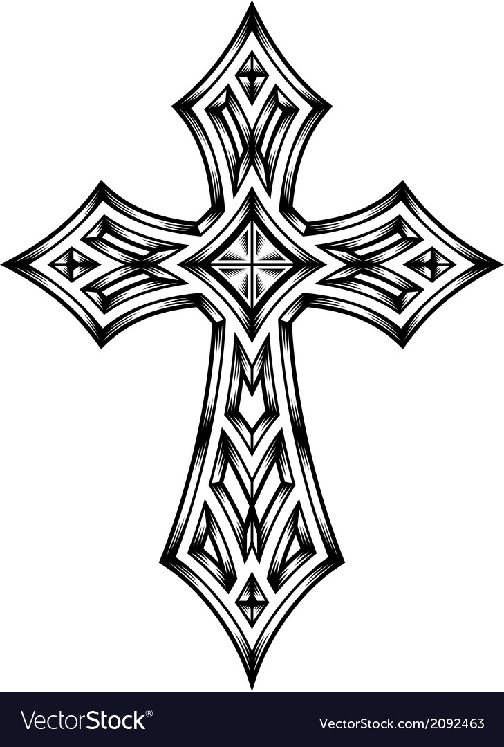 Heraldic cross vector | Price: 1 Credit (USD $1)