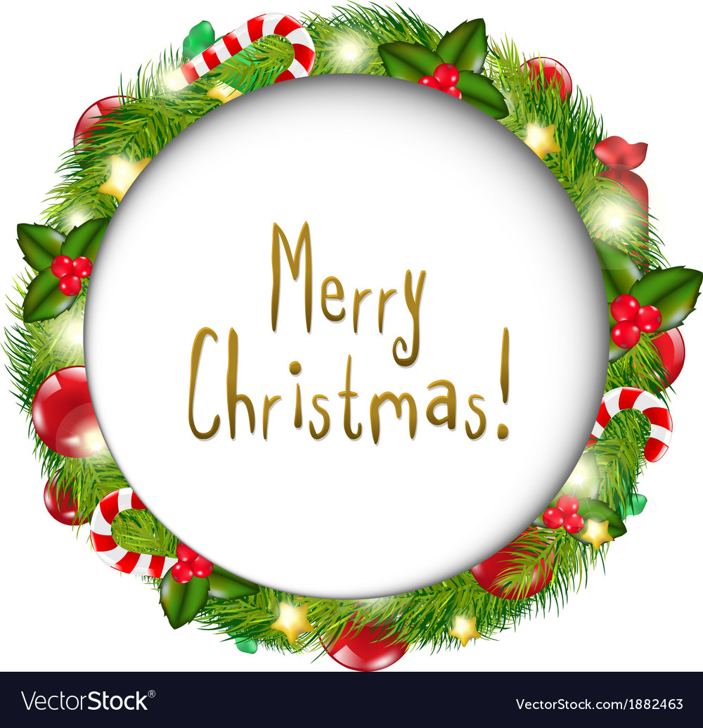 Merry christmas speech bubble vector   Price: 1 Credit (USD $1)