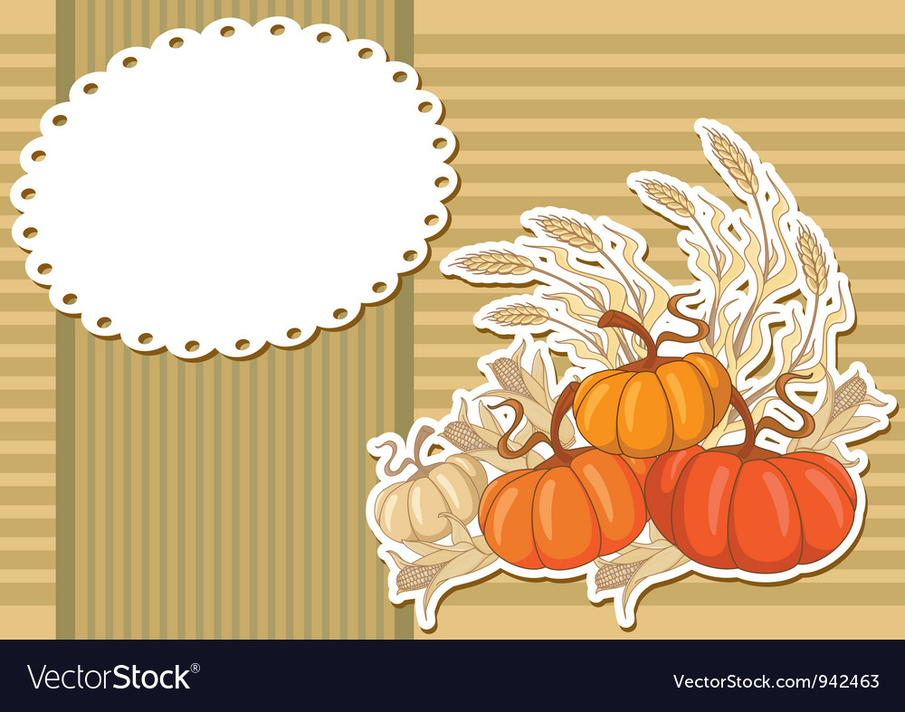 Pumpkin sticker background vector | Price: 1 Credit (USD $1)