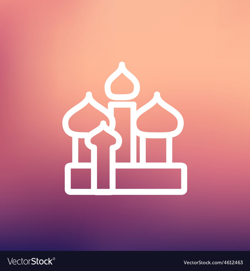 Saint basil cathedral thin line icon vector | Price: 1 Credit (USD $1)
