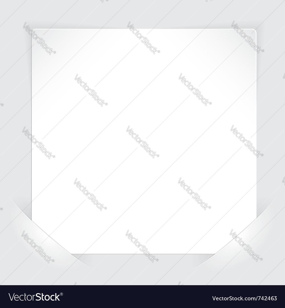 Sheet paper vector | Price: 1 Credit (USD $1)