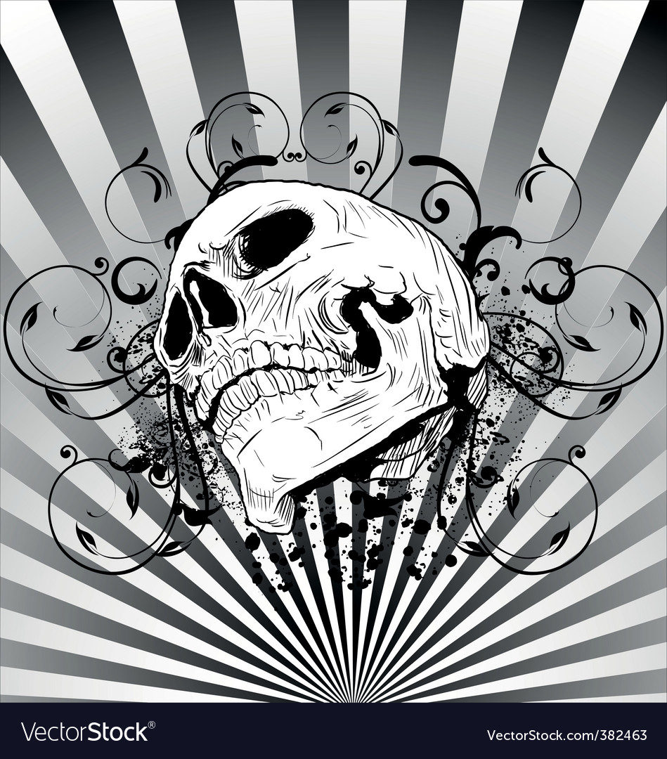 Skull tattoo vector | Price: 3 Credit (USD $3)