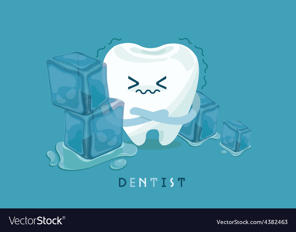 Tooth is so sensitive to coldness vector | Price: 1 Credit (USD $1)