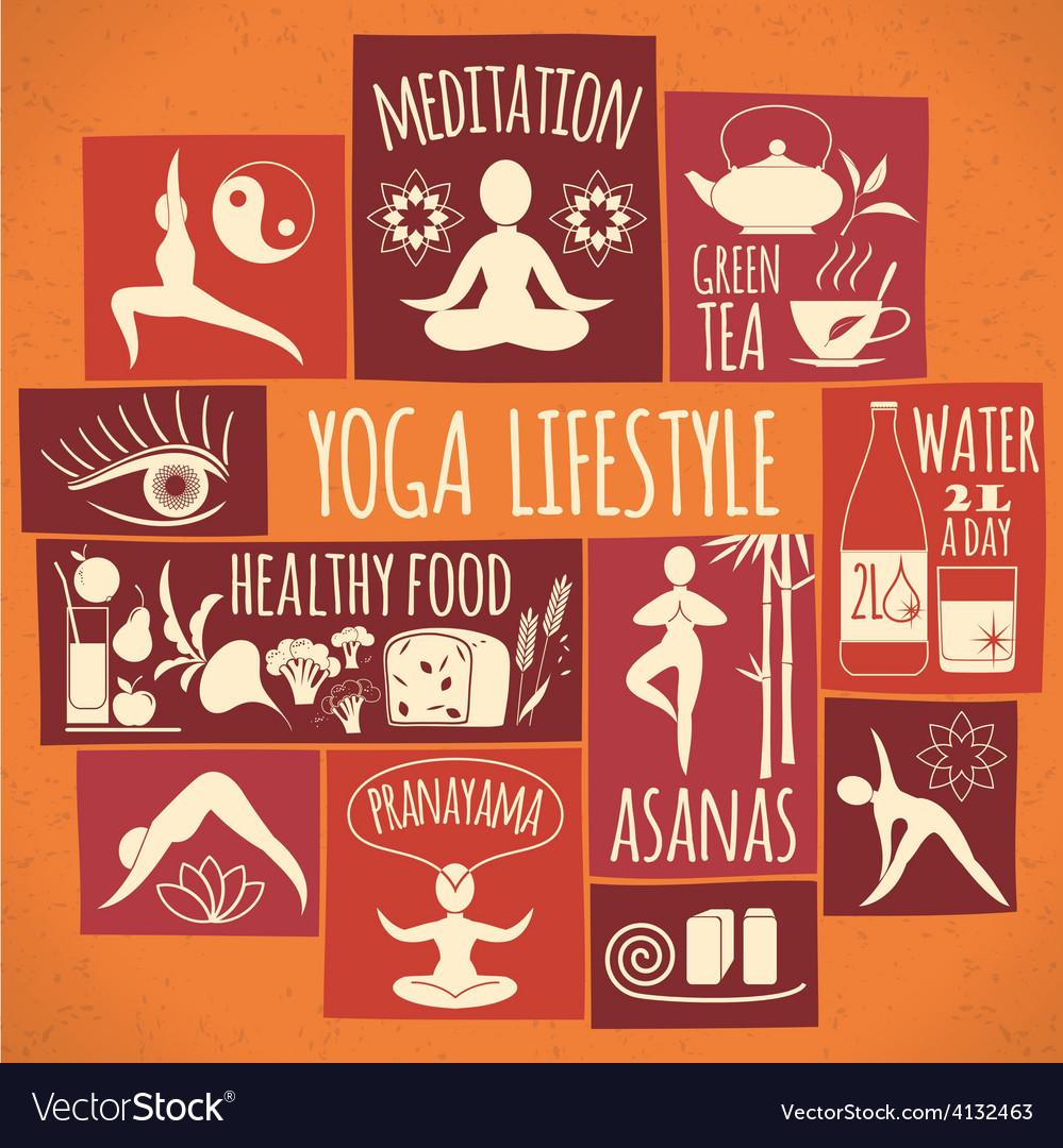 Yoga lifestyle vector | Price: 1 Credit (USD $1)