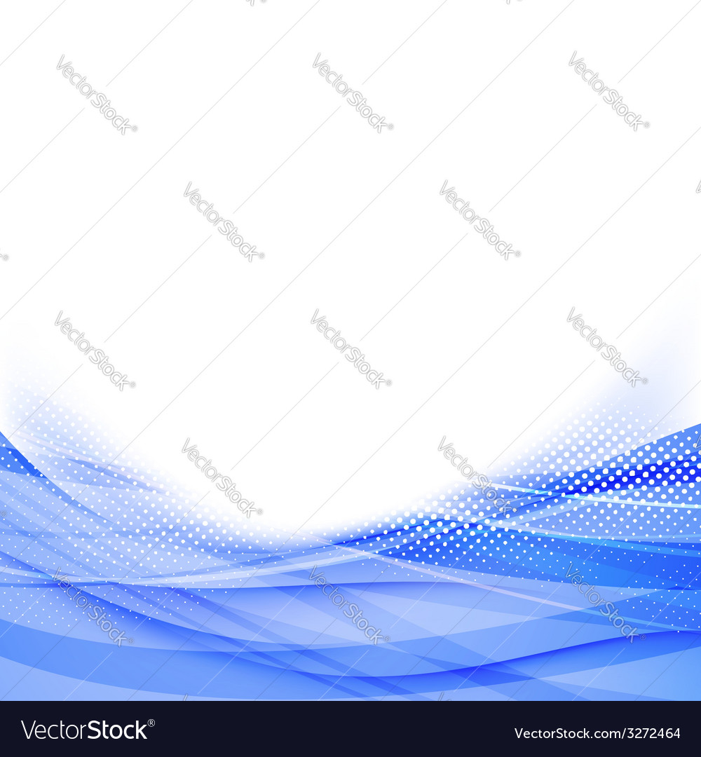 Abstract blue dot wave border background vector   Price: 1 Credit (USD $1)
