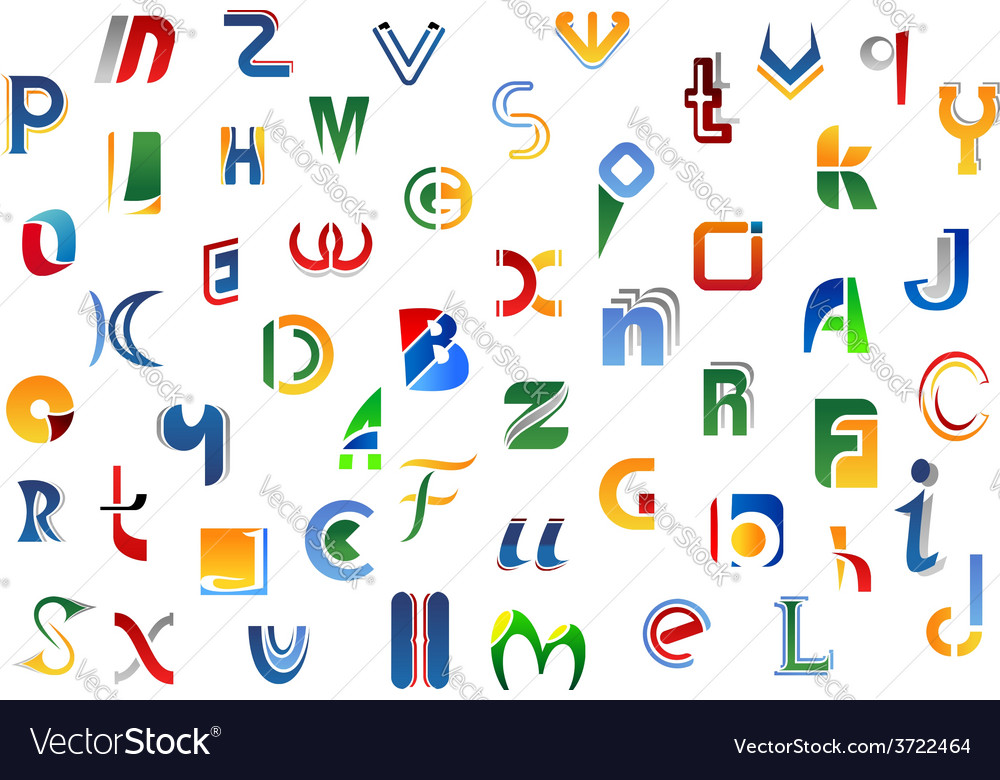 Alphabet letters and symbols vector | Price: 1 Credit (USD $1)