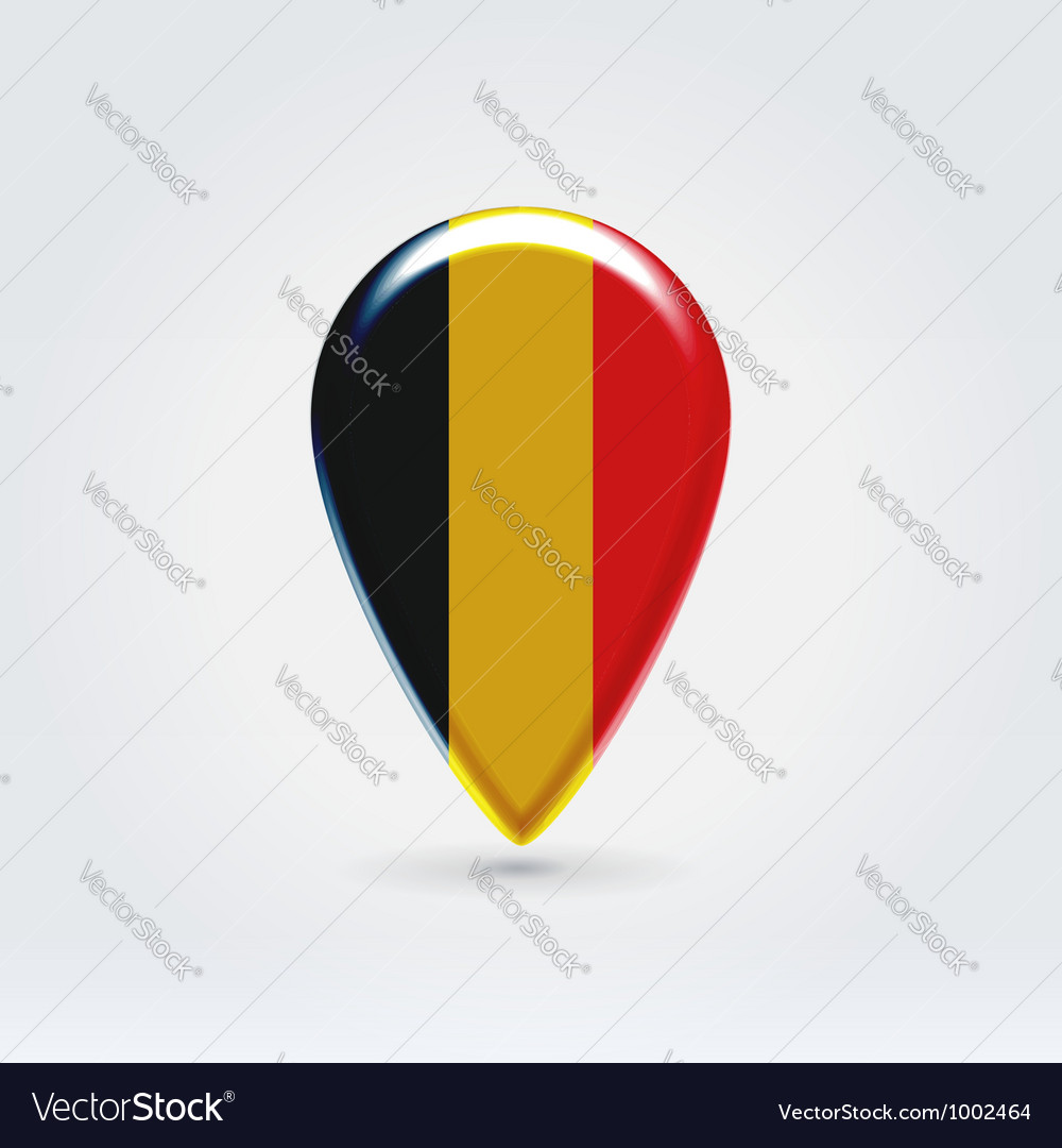 Belgium icon point for map vector | Price:  Credit (USD $)