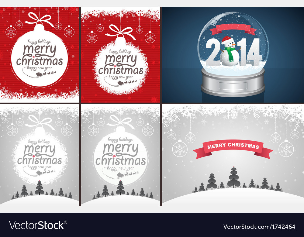 Christmas backgrounds and snow globe vector | Price: 1 Credit (USD $1)
