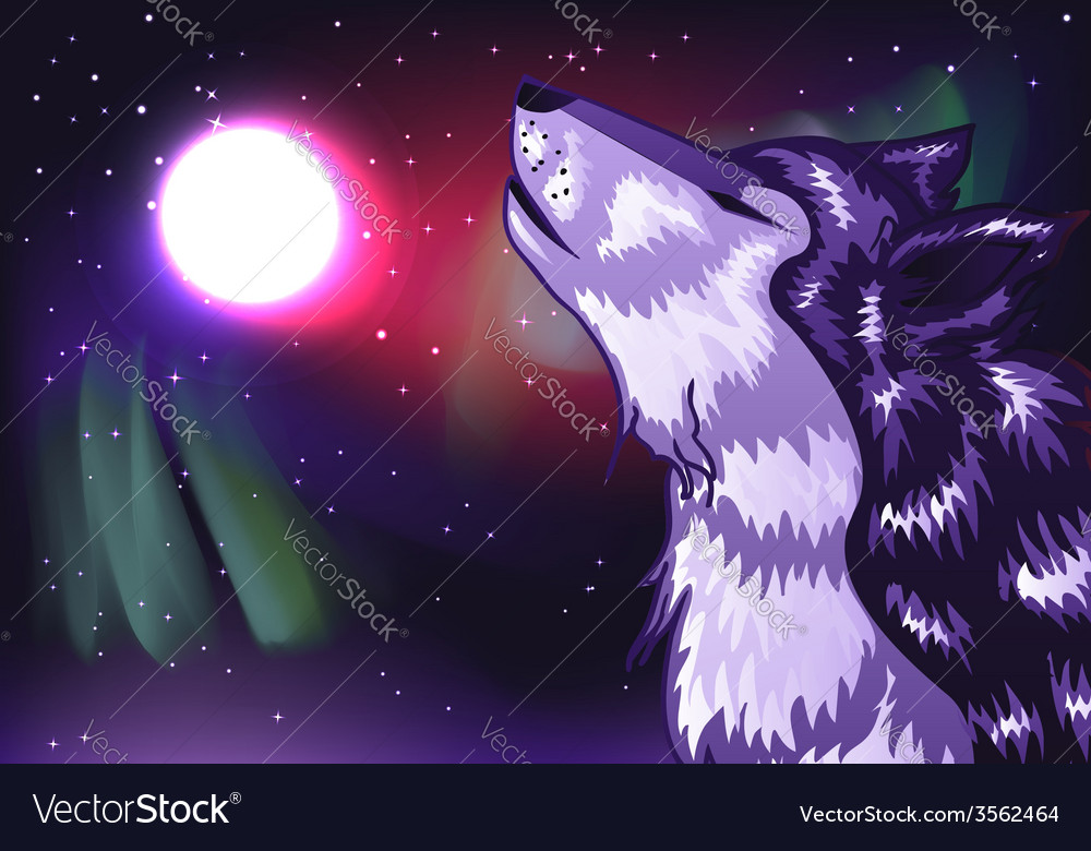 Crying wolf2 vector | Price: 1 Credit (USD $1)