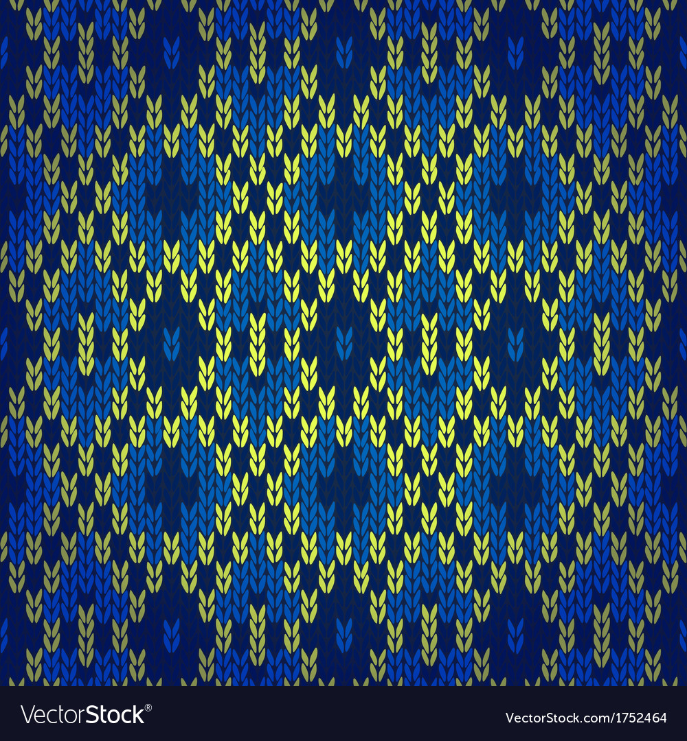 Ethnic style seamless knitted pattern vector | Price: 1 Credit (USD $1)