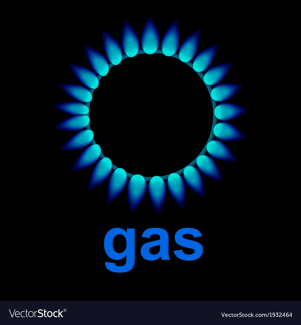 Flames of gas vector | Price: 1 Credit (USD $1)