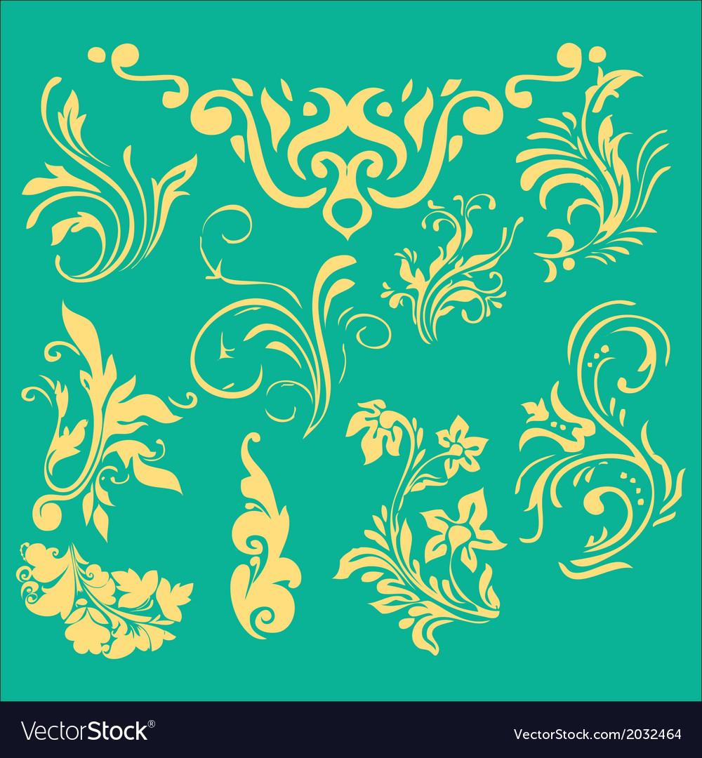 Flourish border digital clip art vector | Price: 1 Credit (USD $1)