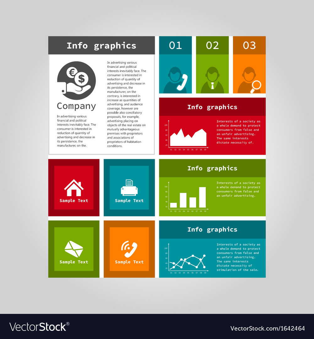 Info graphic company vector | Price: 1 Credit (USD $1)