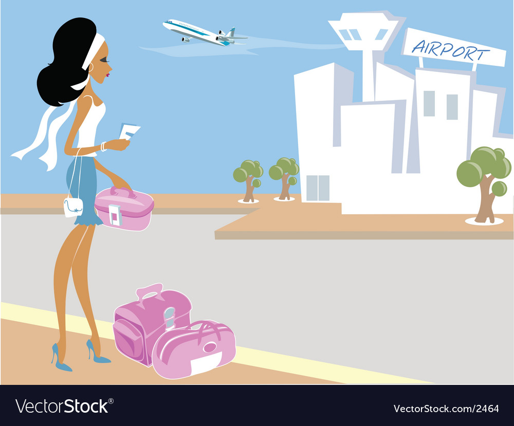 Miss boo airport vector | Price: 5 Credit (USD $5)