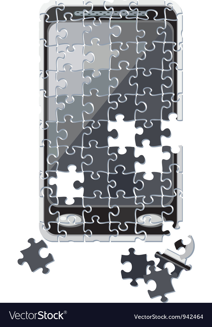 Puzzle smart phone broken vector | Price: 1 Credit (USD $1)