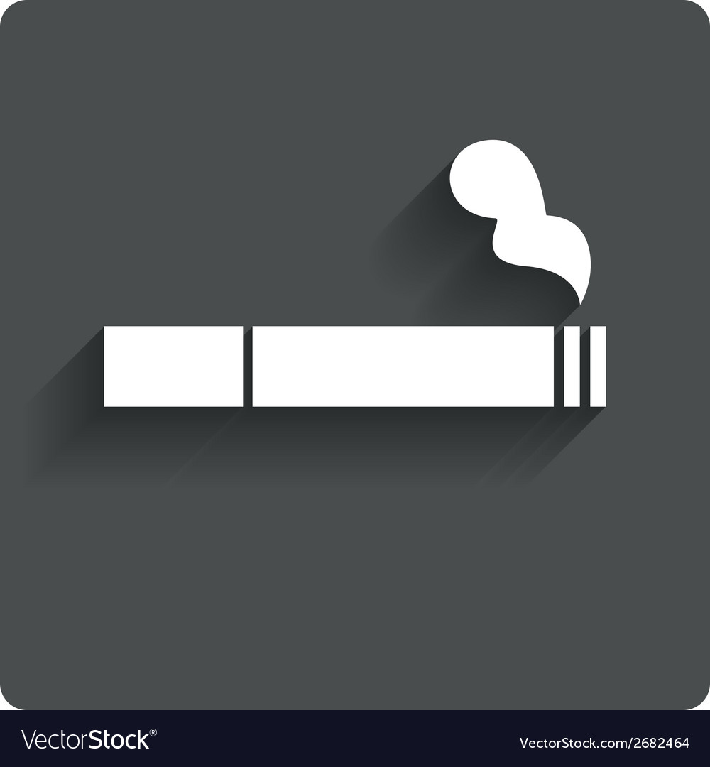 Smoking sign icon cigarette symbol vector | Price: 1 Credit (USD $1)