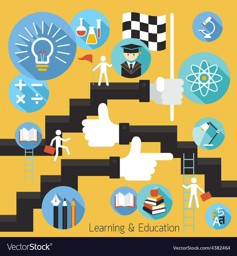 Student success learning education concept vector | Price: 1 Credit (USD $1)