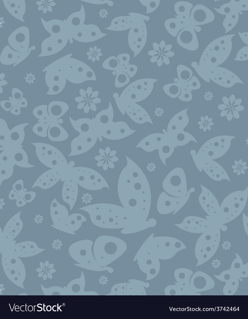 Texture fashion print butterfly blue vector | Price: 1 Credit (USD $1)