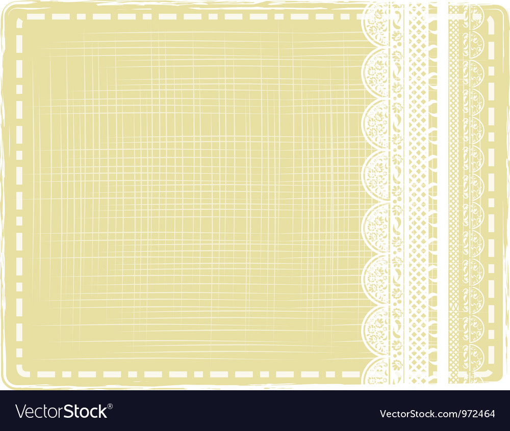 Vintage border with lace vector | Price: 1 Credit (USD $1)