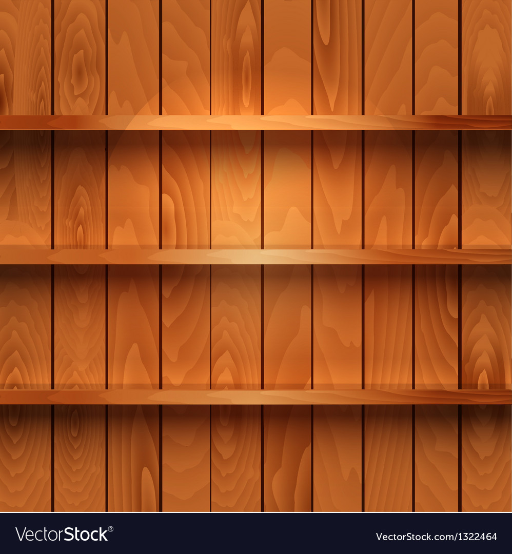 Wooden shelves vector | Price: 1 Credit (USD $1)