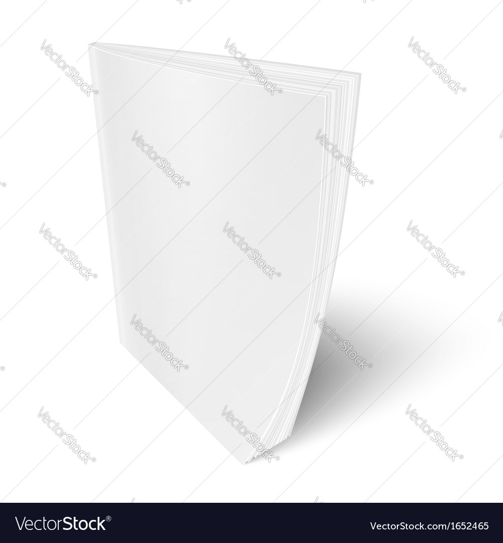 Blank vertical magazine template vector | Price: 1 Credit (USD $1)
