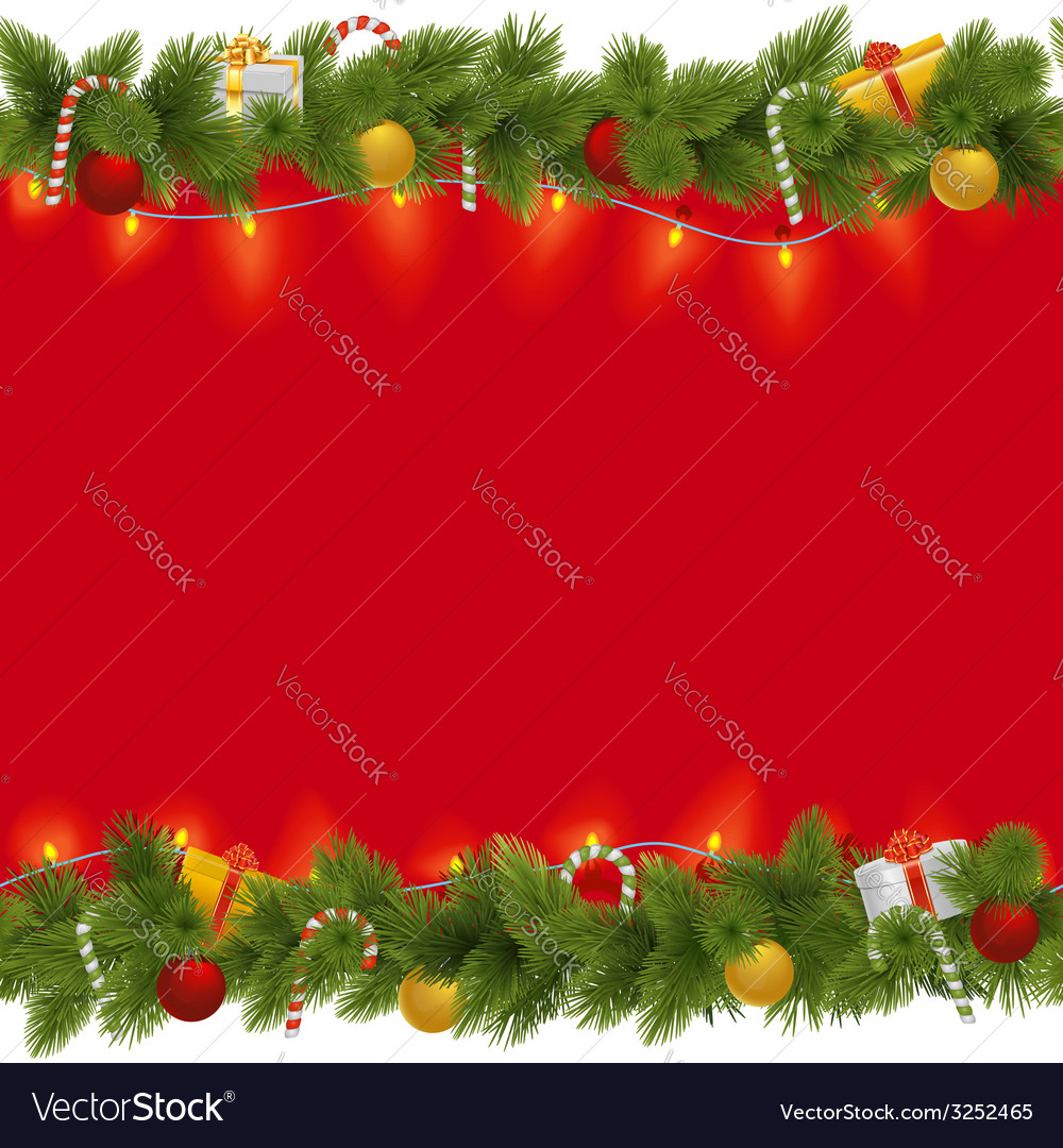 Christmas background with garland vector | Price: 1 Credit (USD $1)