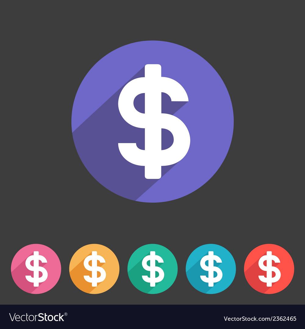 Flat game graphics icon money vector | Price: 1 Credit (USD $1)