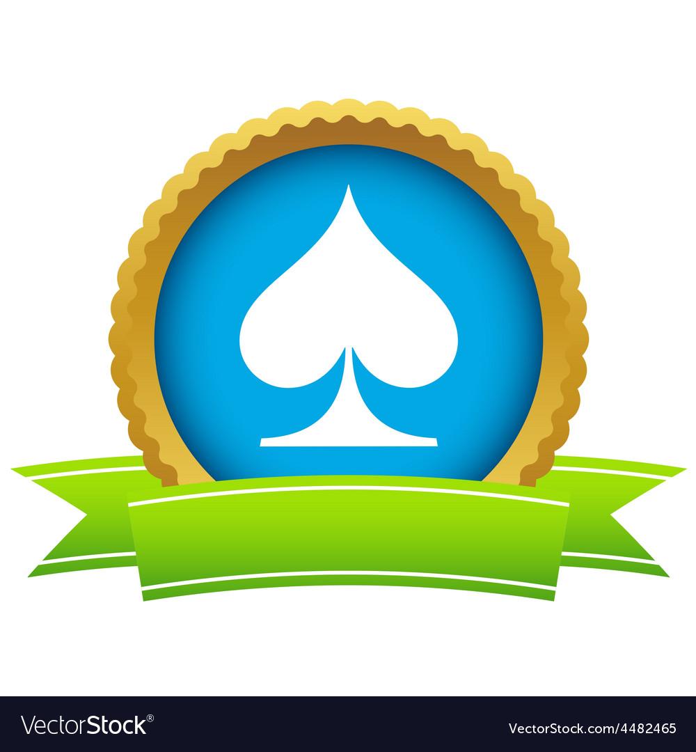 Gold spades card logo vector | Price: 1 Credit (USD $1)