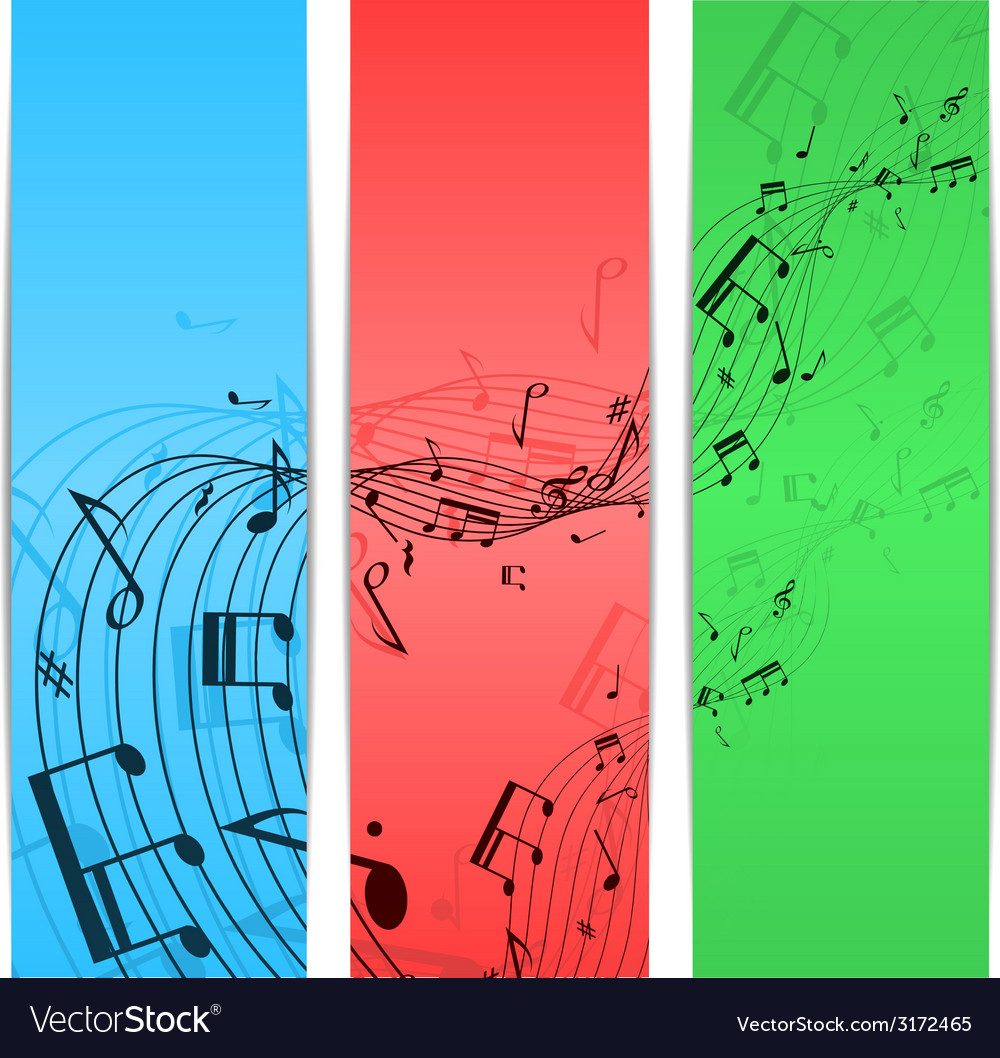 Music notes color vector | Price: 1 Credit (USD $1)