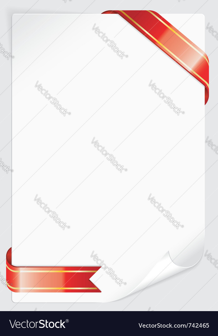 Sheet of white paper vector | Price: 1 Credit (USD $1)