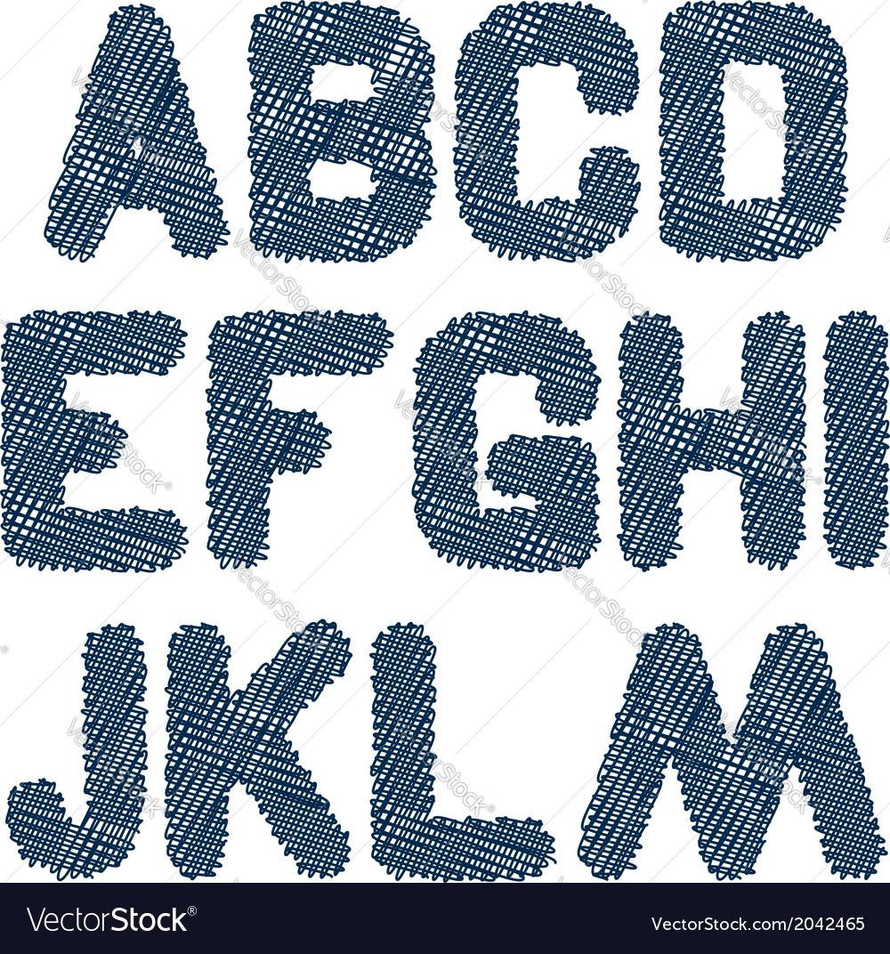 Sketched alphabet am vector   Price: 1 Credit (USD $1)