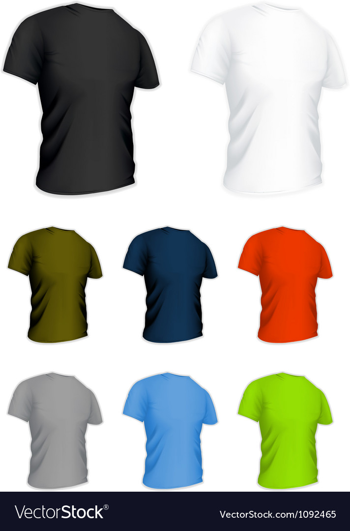 T-shirt on the white set vector | Price: 1 Credit (USD $1)