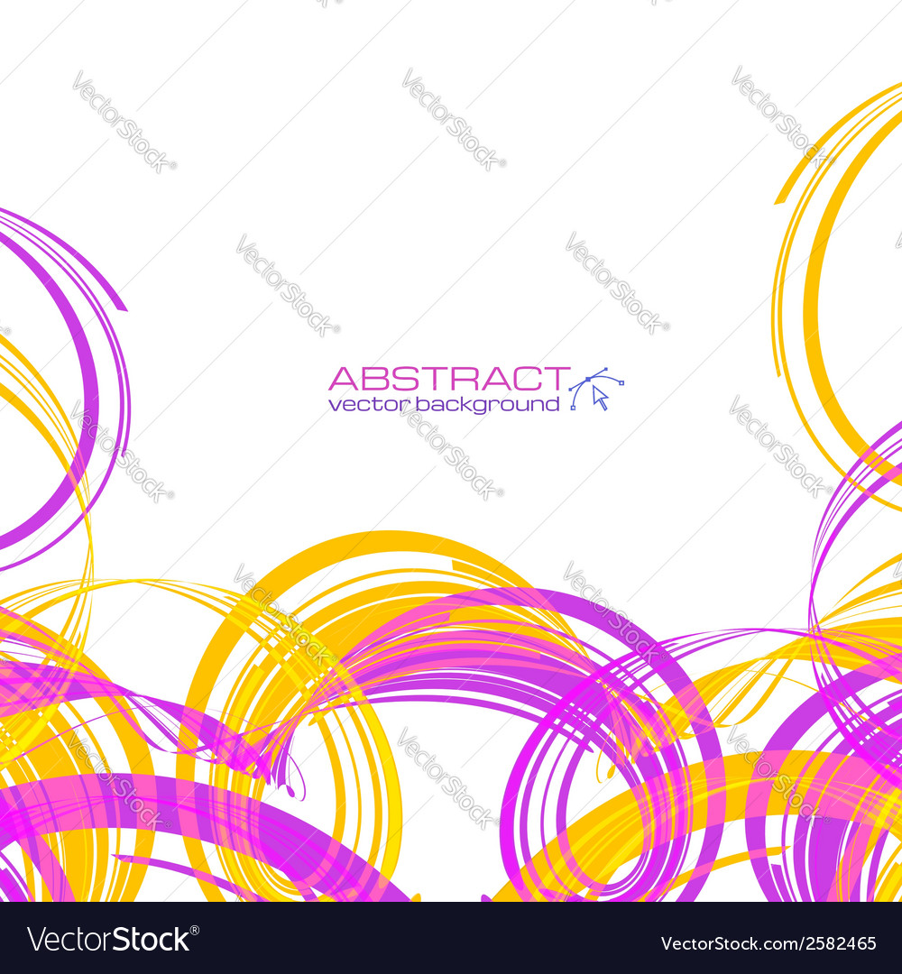 Yellow and pink abstract ribbons background vector | Price: 1 Credit (USD $1)