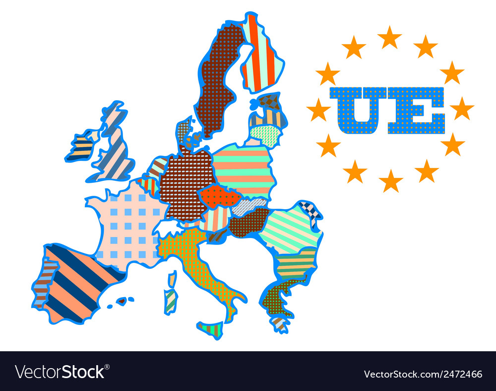 Abstract map of european union vector | Price: 1 Credit (USD $1)