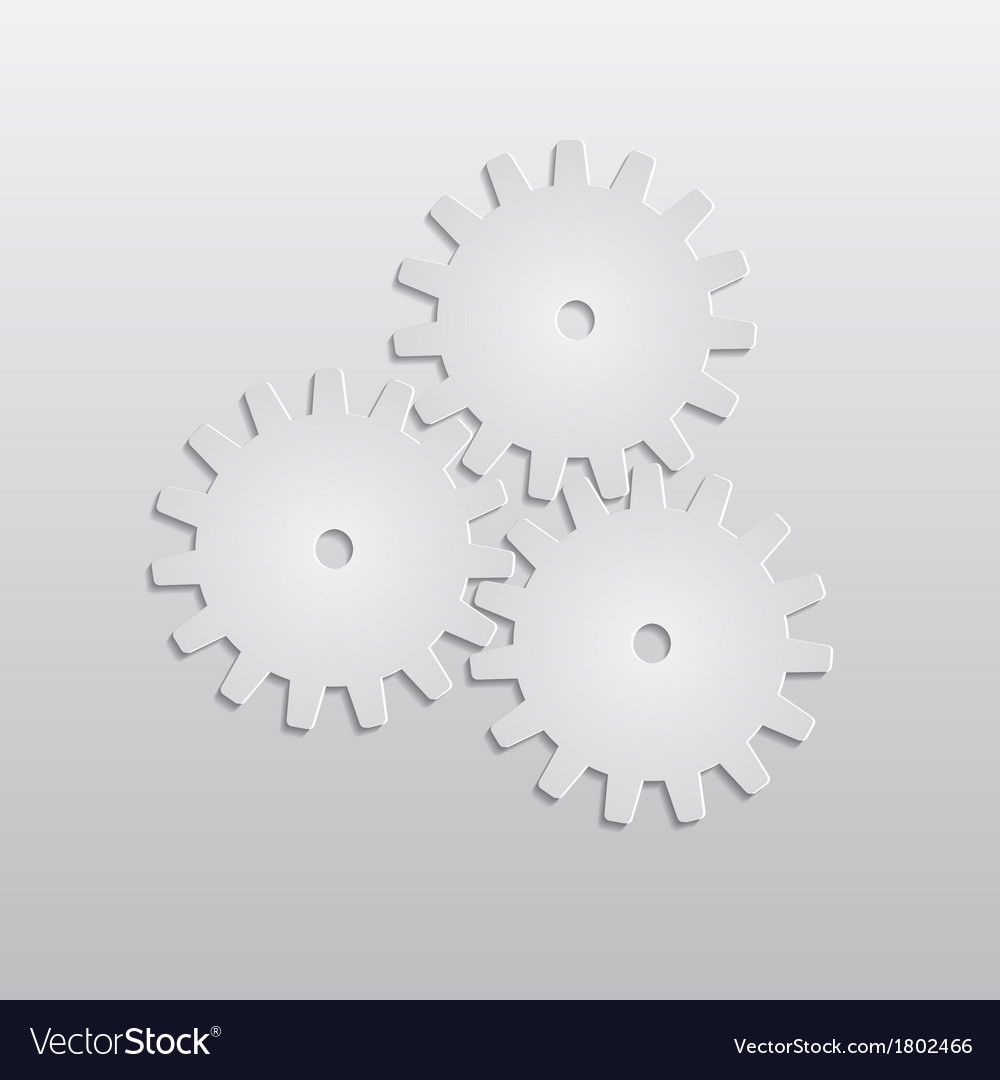 Background with paper gears vector | Price: 1 Credit (USD $1)