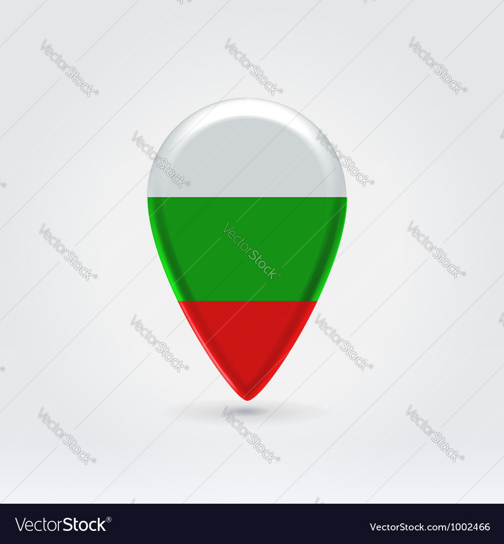 Bulgarian icon point for map vector | Price: 1 Credit (USD $1)
