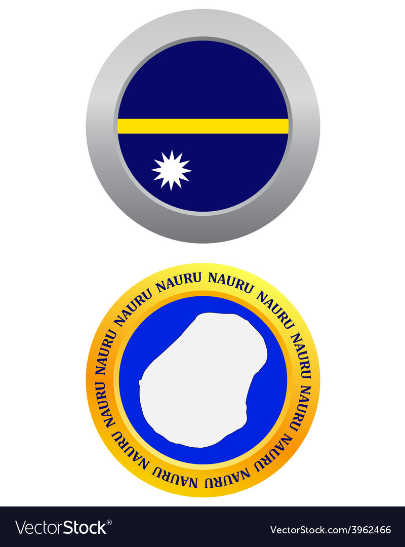 Button as a symbol nauru vector | Price: 1 Credit (USD $1)