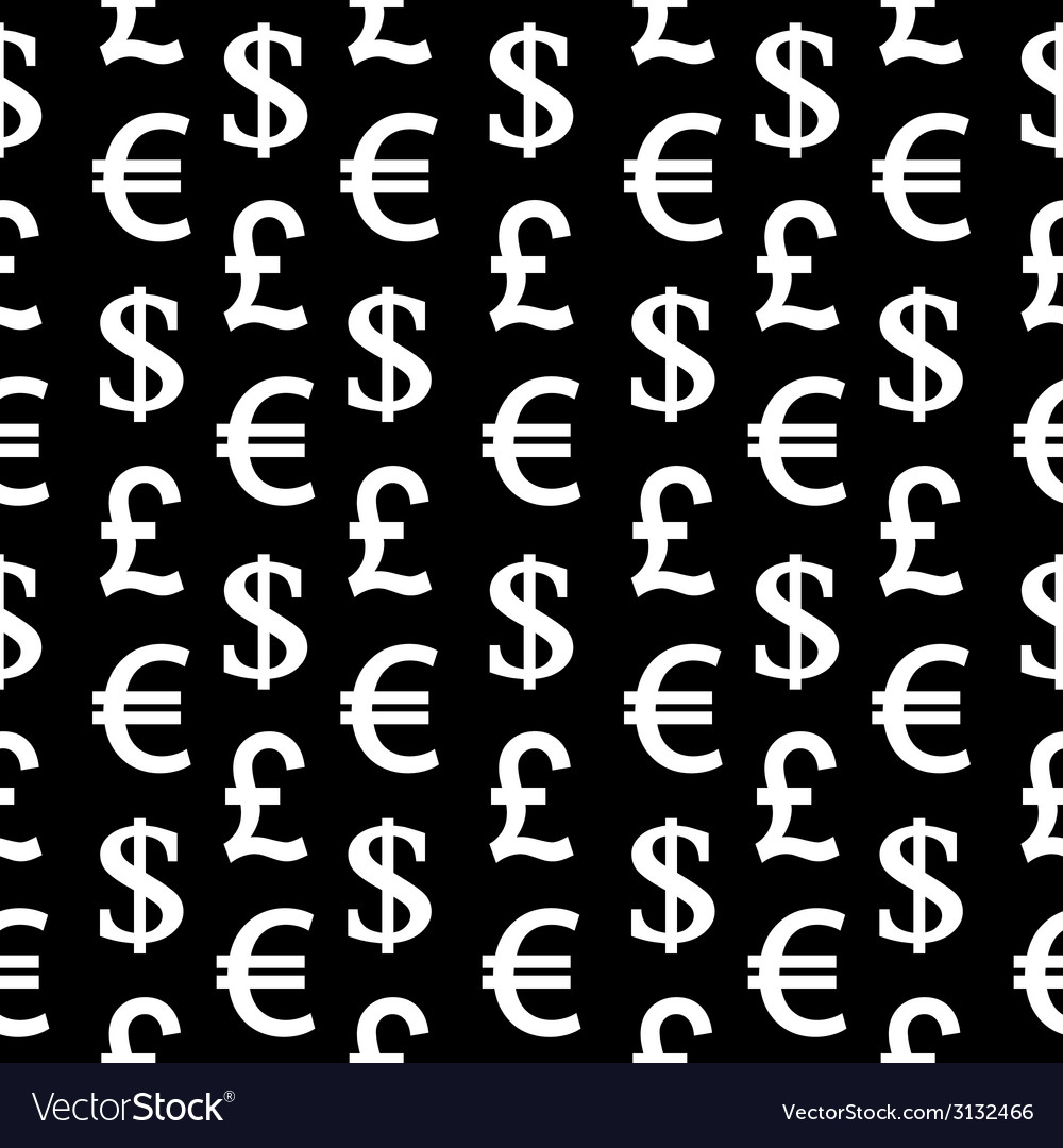 Currency symbols seamless pattern vector | Price: 1 Credit (USD $1)