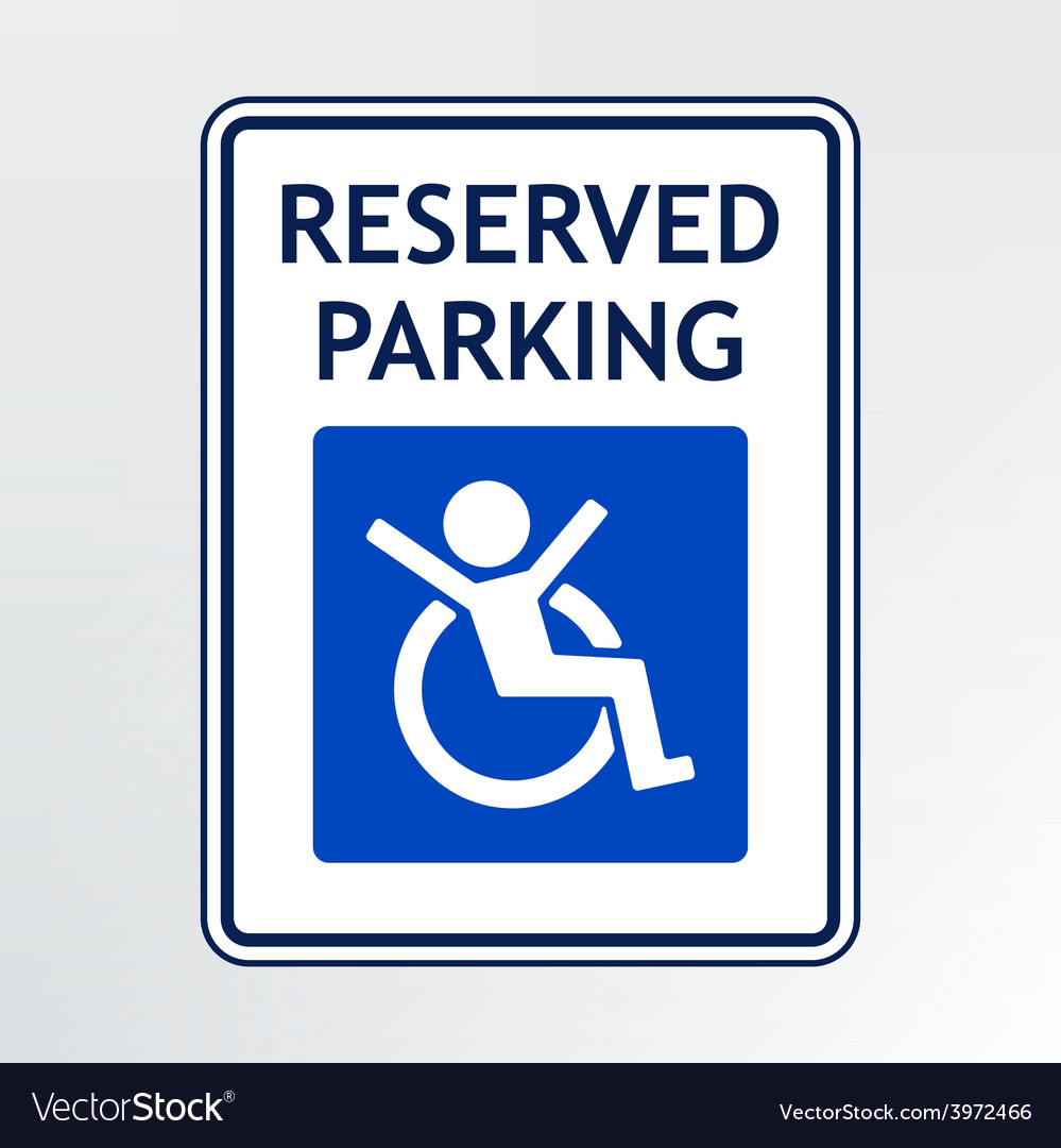 Disabled parking sign vector | Price: 1 Credit (USD $1)