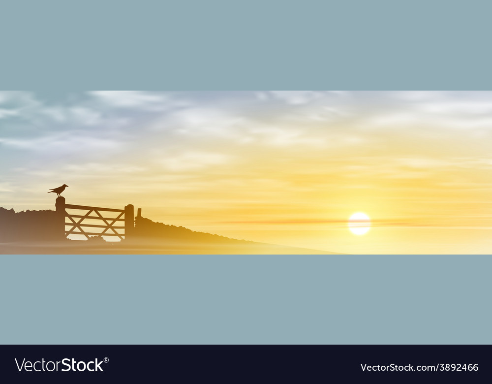 Farm gate vector | Price: 3 Credit (USD $3)