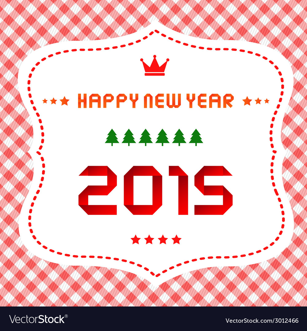 Happy new year 2015 greeting card12 vector | Price: 1 Credit (USD $1)