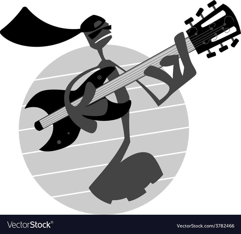 Note playing guitar vector | Price: 1 Credit (USD $1)