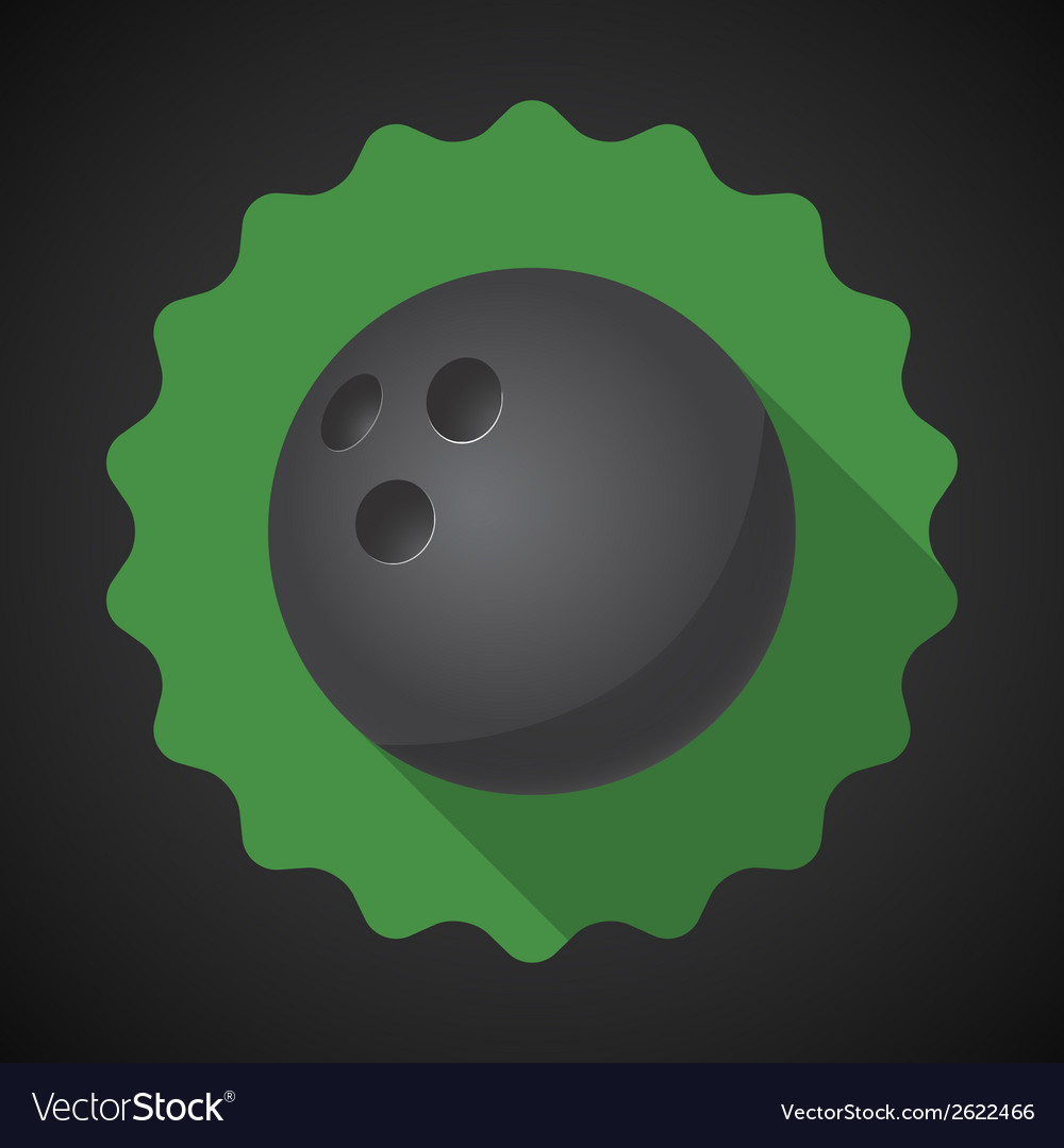 Sport ball bowling flat icon background vector | Price: 1 Credit (USD $1)